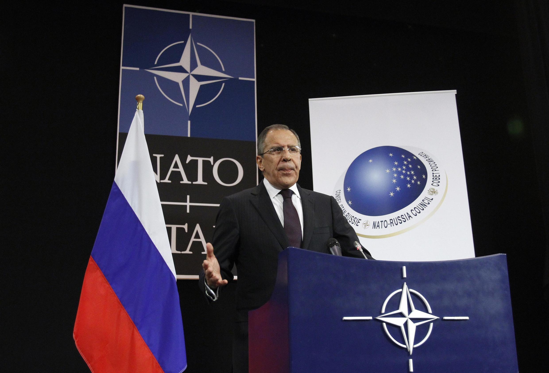 Министр иностранных дел России Сергей Лавров заявил о приостановке работы российского представительства при НАТО