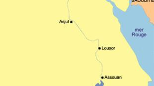 Carte de l'Egypte