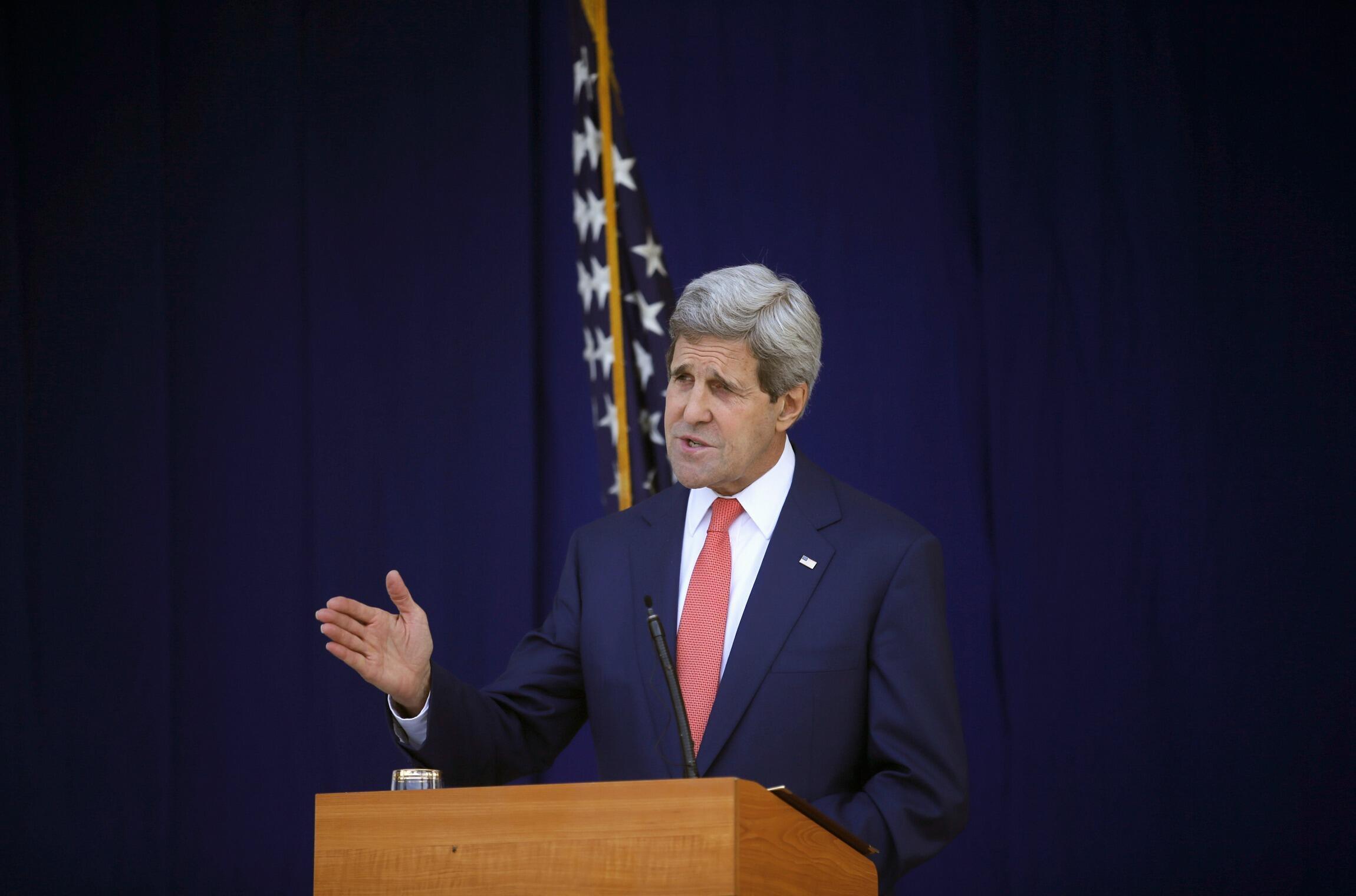 John Kerry n'exclut pas que des pressions soient menées sur le régime Assad pour le pousser à négocier.