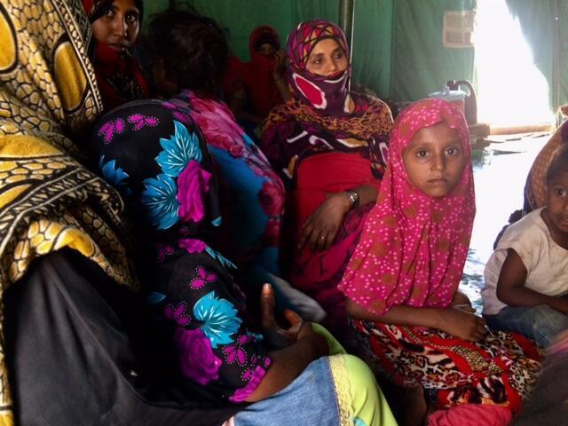 Ces déplacés sont originaires de Moka au nord d'Aden (mars 2018).
