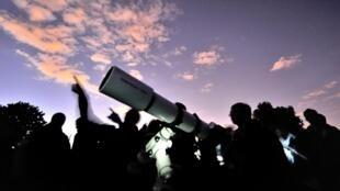 «La Nuit des étoiles» 2013 à Villeneuve-d'Ascq, dans le nord de la France, le 3 août 2013.