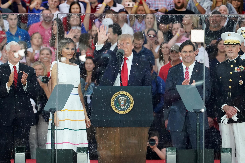 Tổng thống Mỹ Donald Trump và đệ nhất phu nhân Melania, ngày 04/07/2019 tại Washington, nhân dịp lễ Quốc Khánh Mỹ.