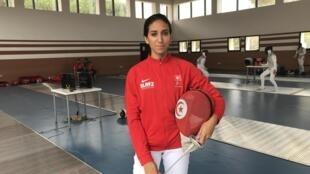 La Tunisienne Inès Boubakri lors des Jeux africains 2019 au Maroc.
