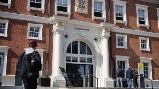 Mặt tiền Học Viện Goldsmiths, Viện Đại Học Luân Đôn (Anh Quốc). Ảnh chụp ngày 13/08/2019.
