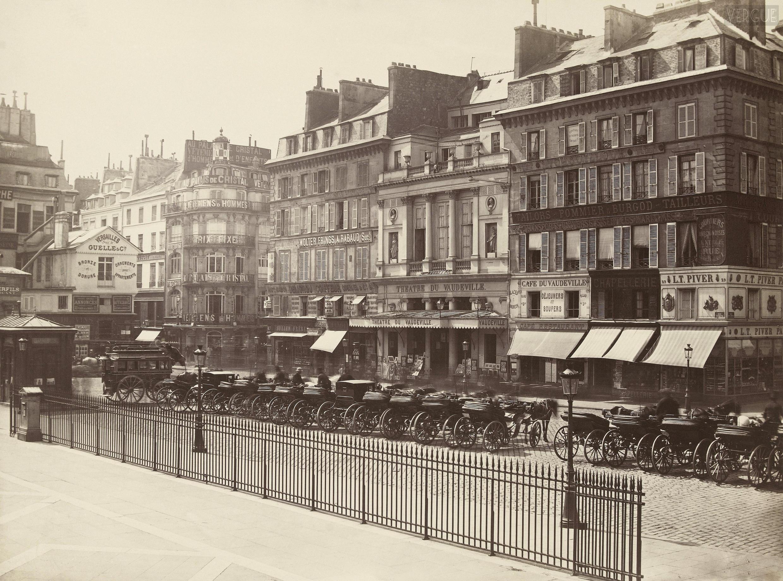 Фасад здания ресторана Vaudeville в XIX в