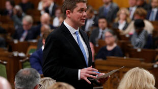 Lãnh đạo phe đối lập Canada mới được bầu Andrew Scheer phát biểu tại Hạ Viện tại Ottawa, Canada, ngày 29/05/2017.
