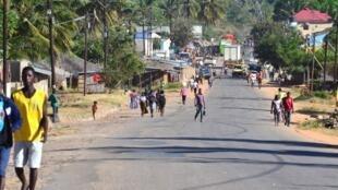A província de Cabo Delgado, Moçambique localizada no extremo nordeste do país.