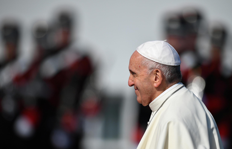 Giáo hoàng Phanxicô trong chuyến tông du tại Dublin, Ireland, ngày 25/08/2018.