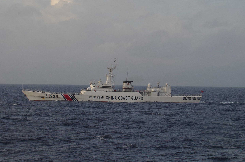 Tầu tuần duyên Trung Quốc số 31239 tại biển Hoa Đông, gần quần đảo tranh chấp Senkaku/Điếu Ngư. Ảnh chụp của tuần duyên Nhật Bản ngày 22/12/2015.
