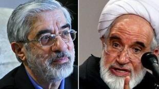 مهدی کروبی و میر حسین موسوی.