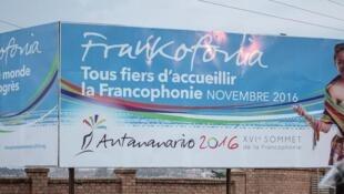 La République de Madagascar « fière » d'acueilir le sommet de la Francophonie. Photo du 24 novembre 2016.