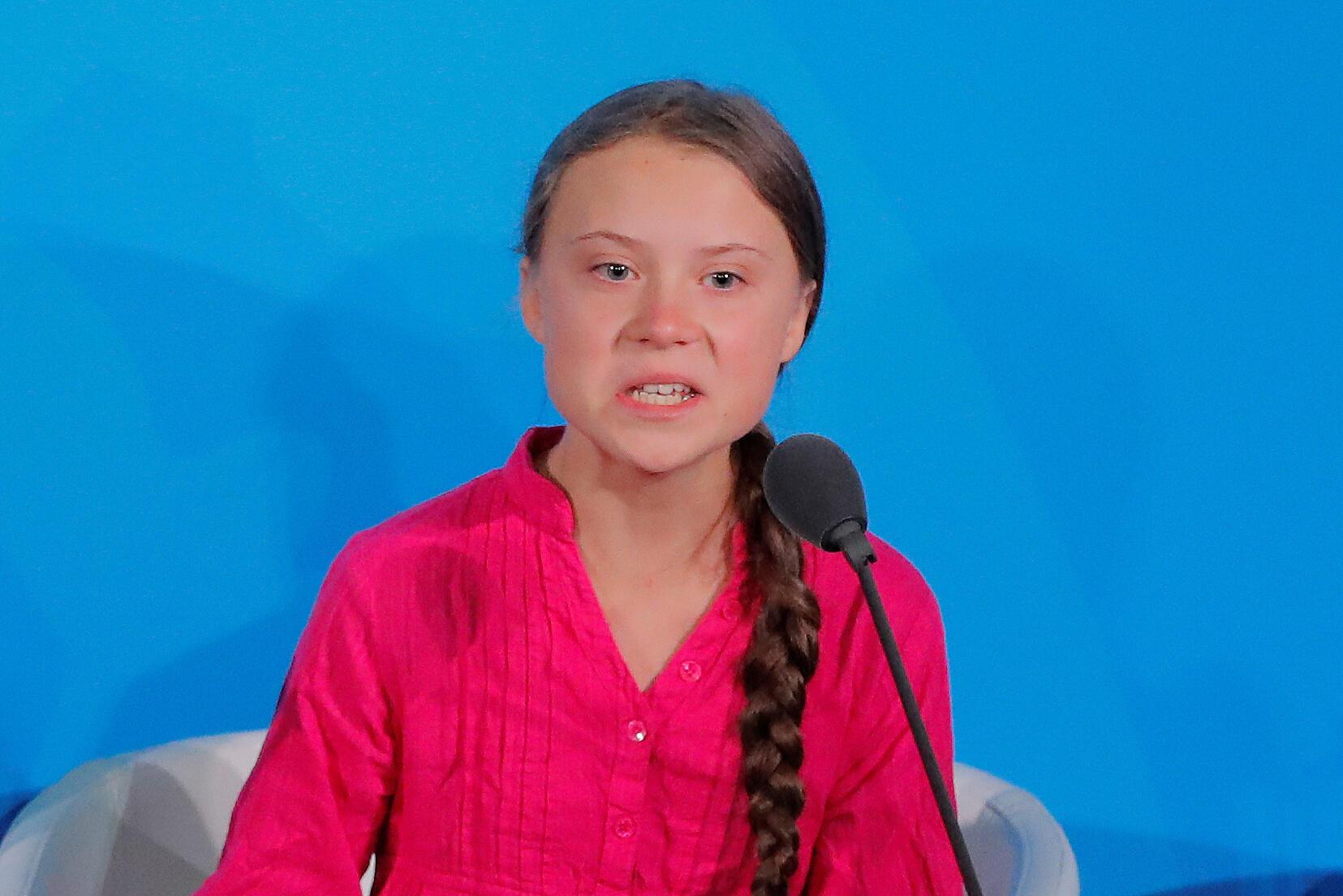 致力推動應對氣候變化的16歲瑞典少女格蕾塔桑伯格。