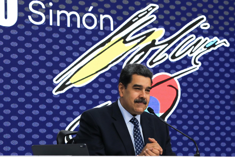 Le président vénézuélien Nicolas Maduro à Caracas le 28 juin 2021.