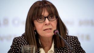 La candidate pour la présidence grecque, Ekaterini Sakellaropoulou.