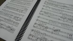 Une partition de «Carmen» de Bizet.