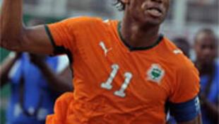 L'attaquant ivoirien Didier Drogba.