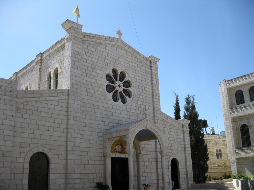 L'une des 3 églises du village palestinien de Taybeh
