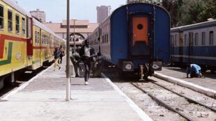 Trains at the Dakar railway station
