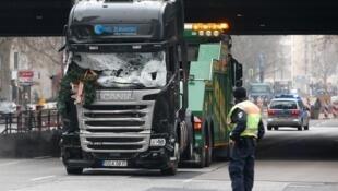 Caminhão usado no atentado da Feira de Natal de Berlim, em 19 de dezembro