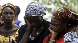 Des Nigérianes se sont rassemblées à Abuja ce 14 avril 2015, un an après l'enlèvement de plus de 200 filles par Boko Haram à Chibok.