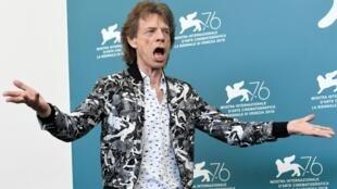 Mick Jagger protestou no último dia do Festival de Cinema de Veneza.