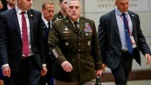Le chef d'état-major des armées américaines, le général Mark Milley, au Capitole à Washington, le 8 janvier 2020.