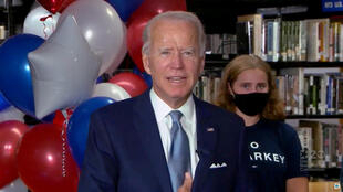 Le candidat démocrate Joe Biden après avoir été investi pour la présidentielle américaine, le 18 août 2020.
