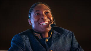La double championne olympique sud-africaine du 800 mètres Caster Semenya lors d'une conférence à Johannesbourg, le 14 août 2019.