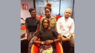 Amayelle, fondatrice de afrorisha avec Audrey et David qui sont venus témoigner sur leurs expériences.