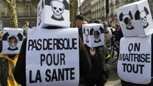 Protesto em Nantes contra o uso da energia nuclear