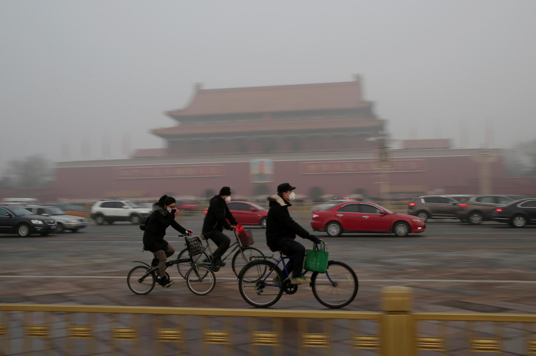 Bắc Kinh, một ngày ô nhiễm. Ảnh 20/12/2016.