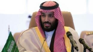 沙特王儲穆罕默德.薩勒曼(Mohammed bin Salman)在利雅得            2017年11月26日