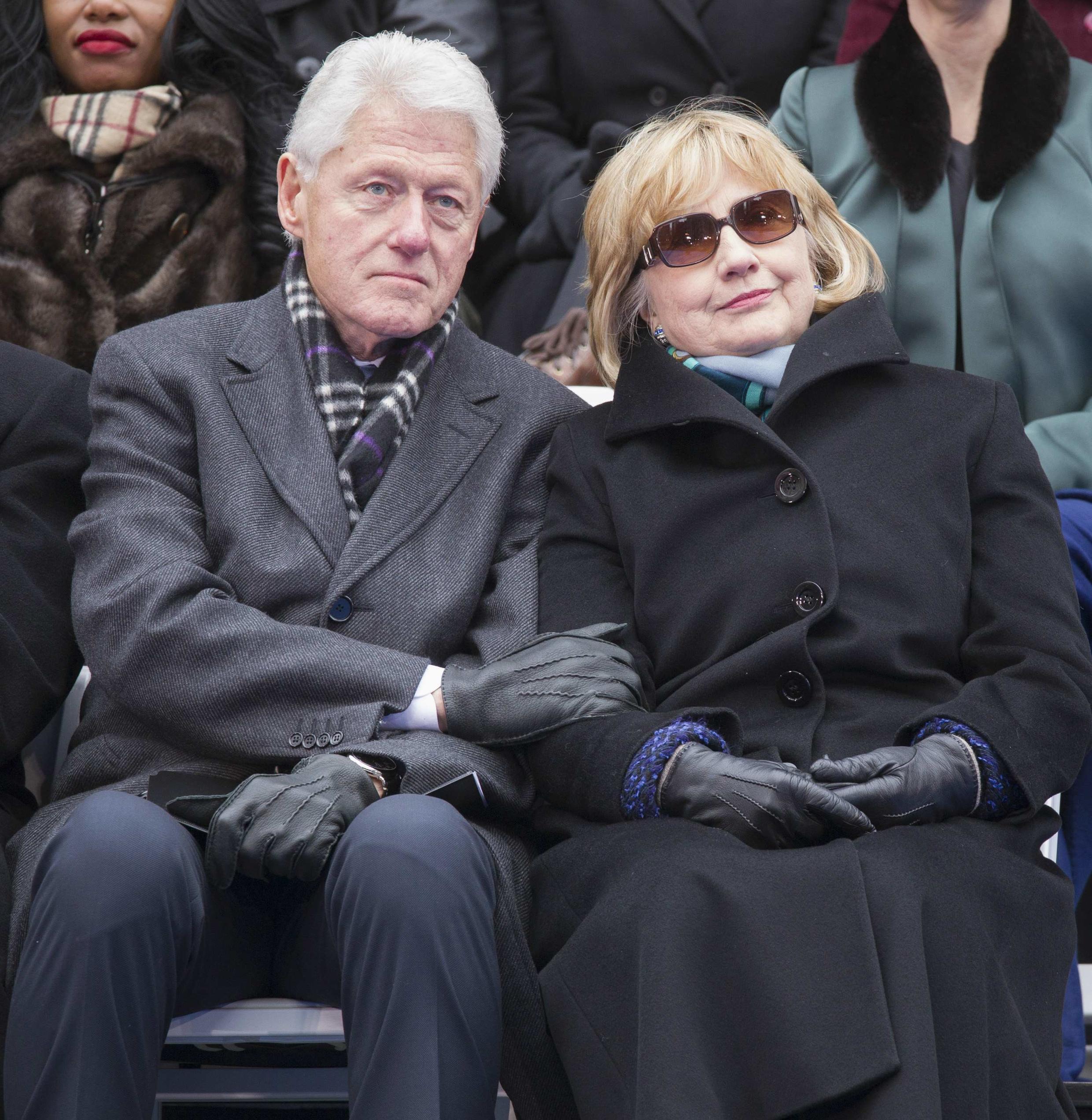 Bill Clinton y Hillary Clinton en Nueva York / Enero de 2014