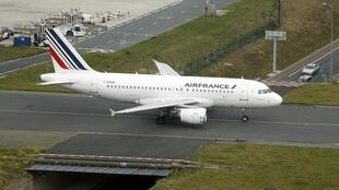 An Air France Airbus A319 at Charles de Gaulle International Airport in Roissy, Paris, 17 September 2014.