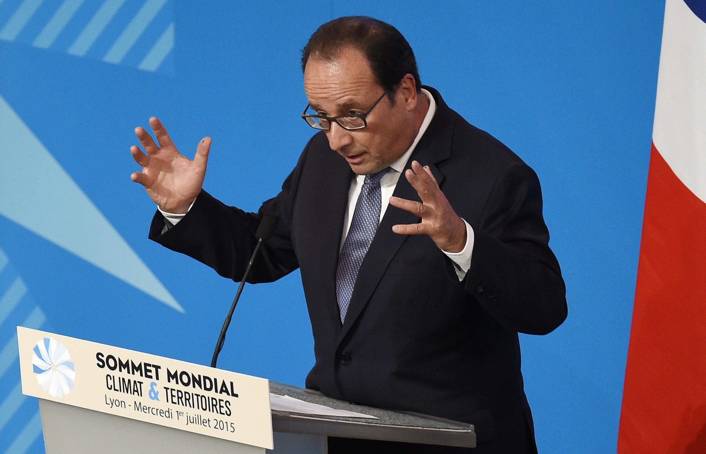 Le président Hollande à Lyon, le 1er juillet 2015.