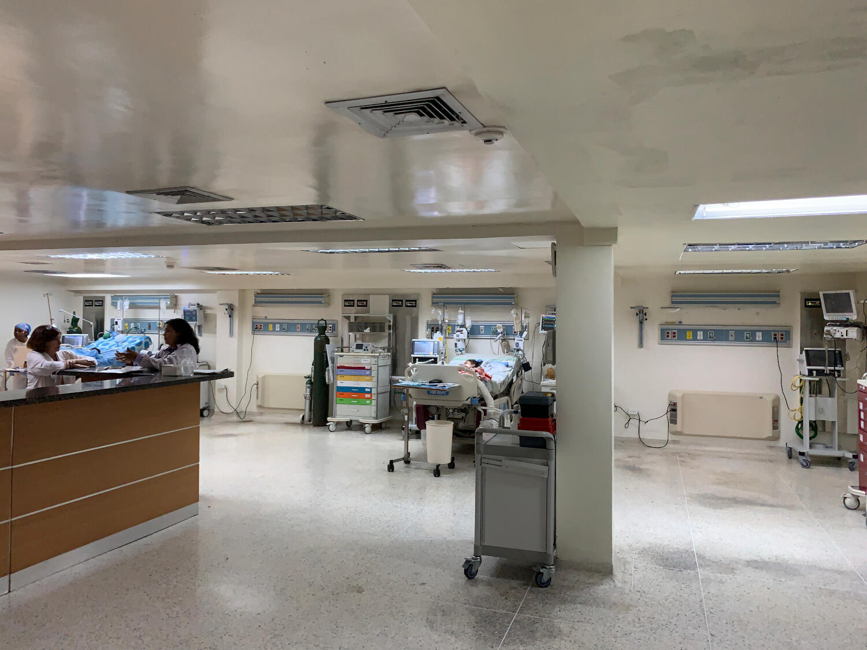 Une zone dégradée de l'hôpital Jose Manuel de los Rios à Caracas, le 24 mai 2019.