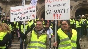 Según la policía, en París había menos de mil manifestantes al mediodía. París, 15 de diciembre de 2018.