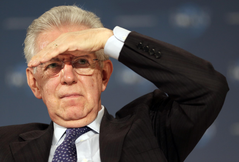 O chefe do governo italiano Mario Monti
