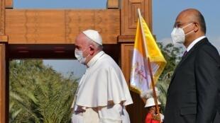 Papa Francisco - Pape François - Irak - Iraque - Vaticano - Vatican - Catolicismo - Católicos - Barham Saleh – Presidente - Iraque