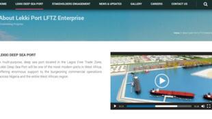 Le projet Lekkiport au Nigeria (capture d'écran).