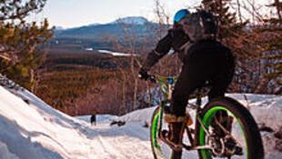 雪地上騎胖胎單車