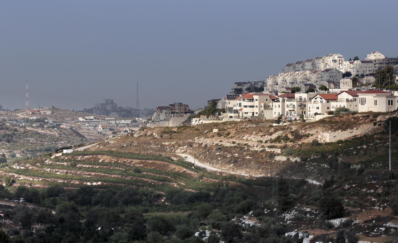 Uma das colônias israelenses na Cisjordânia, em setembro de 2014.