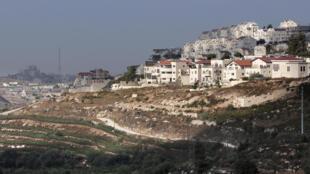 La colonie d'Efrat, en Cisjordanie, le 1er septembre 2014.