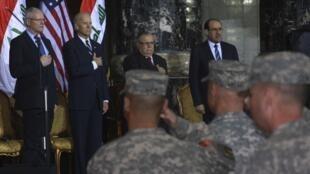 駐伊拉克美軍舉行一項最終撤軍儀式 2011年12月1日巴格達