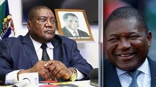 Ossufo Momade, líder da Renamo, e Filipe Nyusi, Presidente de Moçambique.