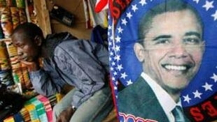 Obama, not Sarkozy, gets his face on this African stall