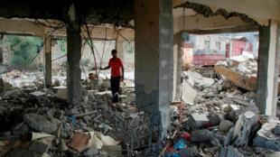 受到戰火的洗劫也門