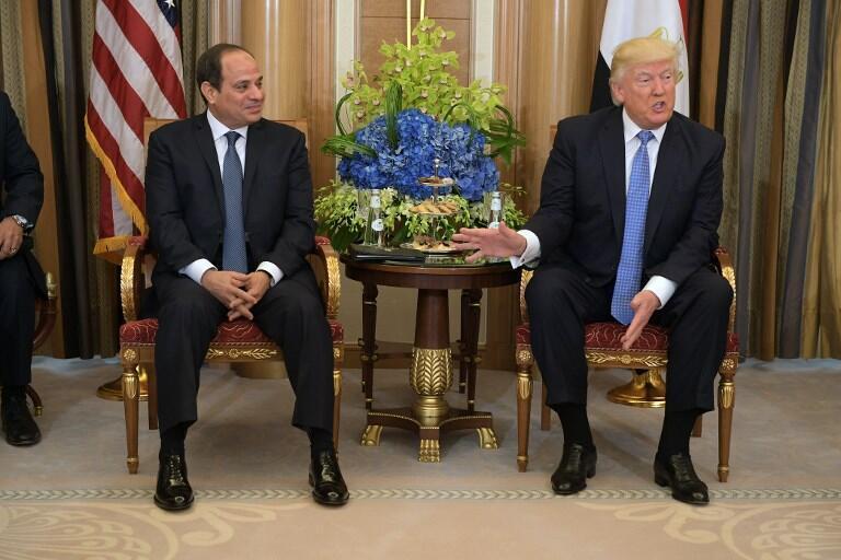 دونالد ترامپ و عبدالفتاح السيسى، روساى جمهورى امريكا و مصر - تصویر آرشیوی