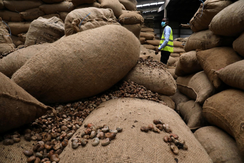 Un entrepôt de noix de cajou à Abidjan le 13 mai 2020 (image d'illustration).
