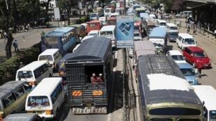 Traffic at a standstill in Kenya's capital Nairobi